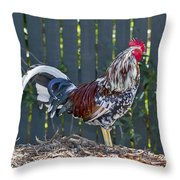 Key West Rooster 2 Throw Pillow