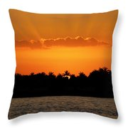 Key West Sunset 25 Throw Pillow