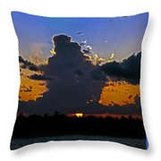 Key West Sunset Glory Throw Pillow