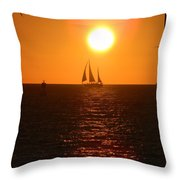 Key West Sunset Throw Pillow