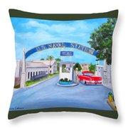 Key West U.s. Naval Station Throw Pillow