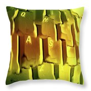 Keyboard Fried Throw Pillow