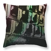 Keyboard In The Abstract Throw Pillow