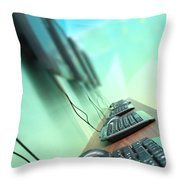 Keyboards Mice And Monitors Throw Pillow