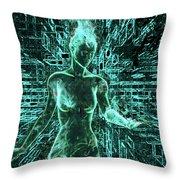 Keyed To The Matrix Throw Pillow