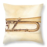 Keyed Trumpet Throw Pillow