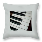 Keys Close Up Throw Pillow