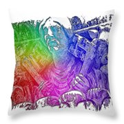 Keys To The City Cool Rainbow 3 Dimensional Throw Pillow
