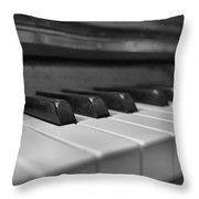 Keys To The Piano Throw Pillow