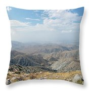 Keys View In Joshua Tree National Park Throw Pillow by Ross G Strachan