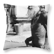 Khajuraho Yogi Throw Pillow