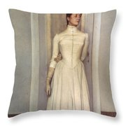 Khnopff: Sister, 1887 Throw Pillow