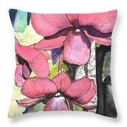 Kiahuna Orchids Throw Pillow