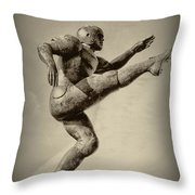 Kick Off Throw Pillow by Bill Cannon