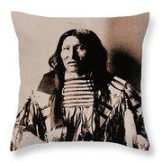 Kicking Bear Indian Chief Throw Pillow