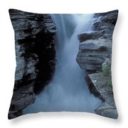 Kicking Horse River Throw Pillow