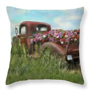 Kicks On Route 66 Throw Pillow