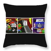 Kid Monsta Triptych 2 Throw Pillow