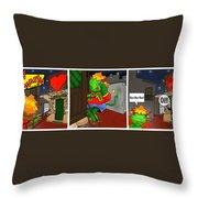 Kid Monsta Triptych 5 Throw Pillow