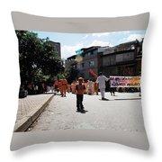Kid On Parade Throw Pillow