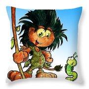 Kid Troll Throw Pillow