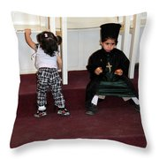 Kids And Religion Throw Pillow