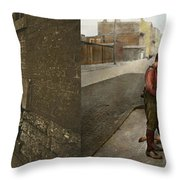 Kids - Cincinnati Oh - A Shady Game 1908 - Side By Side Throw Pillow