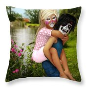 Kids Wanna Have Fun Throw Pillow