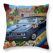 Kids,country And Old Goats Throw Pillow