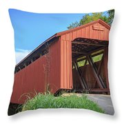 Kidwell Covered Bridge Throw Pillow