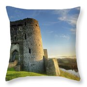 Kidwelly Castle 3 Throw Pillow