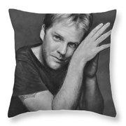 Kiefer Sutherland Throw Pillow