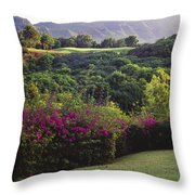Kiele Course, Flowers And Vegetation Throw Pillow