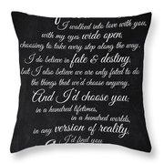 Kiersten White Quote Throw Pillow
