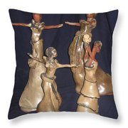 Kiganda Dance Troupe Throw Pillow