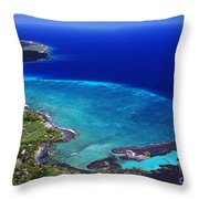 Kiholo Bay Aerial Throw Pillow