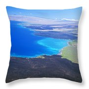 Kiholo Bay, Aerial View Throw Pillow