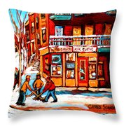 Kik Cola Depanneur Throw Pillow