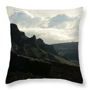 Kilakila O Haleakala Ala Hea Ka La The Sacred House Of The Sun Throw Pillow