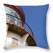 Kilauea Lighthouse Against The Sky Throw Pillow