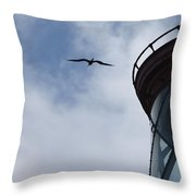 Kilauea Lighthouse And Bird Throw Pillow