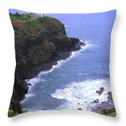 Kilauea Lighthouse And Bird Sanctuary Throw Pillow