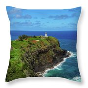 Kilauea Lighthouse Throw Pillow