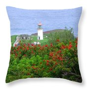 Kilauea Lighthouse Kauai Hawaii Throw Pillow