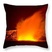 Kilauea Volcano Throw Pillow