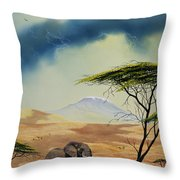 Kilimanjaro Bull Throw Pillow