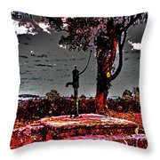 Kilkeasy Water Well, Evening Time Throw Pillow