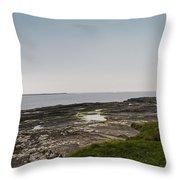 Kilkee Coastline Throw Pillow