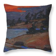 Killbear Flagged Pines At Sunset Throw Pillow