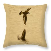 Killdeer Over The Pond Throw Pillow
